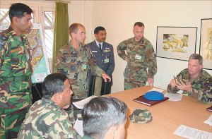 Nepali officers and U.S. military advisers